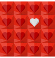 Red crystal hearts with one different vector