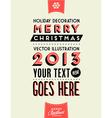 Retro vintage merry christmas tin sign vector