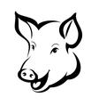 Pig head vector