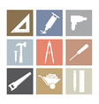 Working tools icons set vector