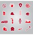Fire brigade stickers set eps10 vector