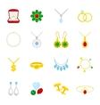 Jewelry icon flat vector