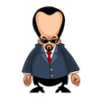 Cartoon man with a big head in a suit vector