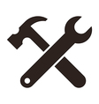 Wrench and hammer tools icon vector
