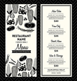 Black and white restaurant menu design template vector