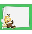 Bee border vector