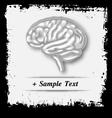 Paper art human brain vector