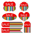 Set of colorful sale tags vector