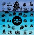 Pirate ship collection vector