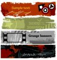 Grunge banners vector