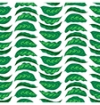 Pattern with bright green husta leaves vector