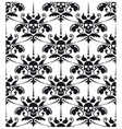 Pattern baroque with skulls vector