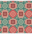 Geometrical ornament with flowers vector