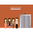 Elevator up down desing over vector