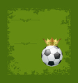 Football retro grunge card with ball and crown vector