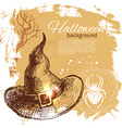 Halloween background hand drawn vector