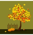 Yellow and orange maple vector
