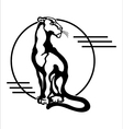 The stylized image of a seated panther vector