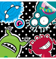 Cute little funny monsters vector