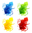 Four seasonal floral colorful frames isolated vector