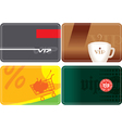 Set of vip plastic cards vector