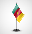Table flag of cameroon vector