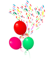 Balloons fly vector