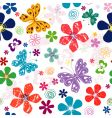 Spring seamless white floral pattern vector