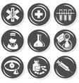 Medical nurse icons vector