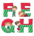 Alphabet kids efgh vector