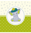 Little elephant baby vector