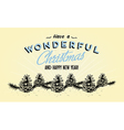 354retro vintage merry christmas tin sign vector