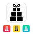 Gift boxes icons on white background vector