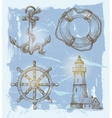 Sea elements vector
