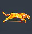 Animal tiger abstract triangle logo vector