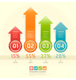 Infographics elements colorful arrow template vector