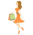 Shopping beauty vector