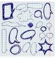 Speech bubbles doodles on notepaper vector