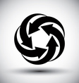 Five arrows loop conceptual icon abstract new idea vector