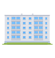 One five story building vector