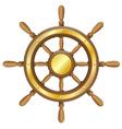 Steering wheel for ship vector