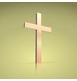 Golden cross symbol of the christian vector