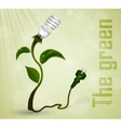 Green plug with leaves and planet vector