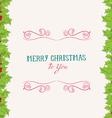 Christmas holly border vector