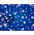 Blue christmas background with christmas balls vector