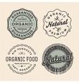 Set vintage organic labels vector