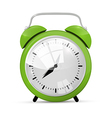 Green alarm clock isolated on white background vector