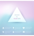 Abstract elements on blurred background vector