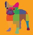 Nice color bulldog artprint vector