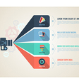 Abstract light 3d infographic with flat icons vector